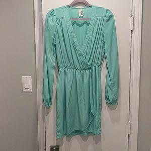 Mint green wrap dress